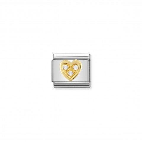 Link_Composable_Classic_Cuore_con_Pietre_bianche_Link_in_Oro_e_dettagli_in_Cubic_Zirconia_bianchi_momenti_d'amore