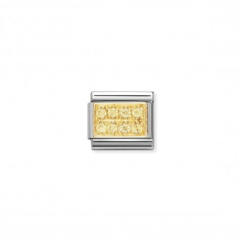 Link_Composable_Classic_con_Pietre_gialle_Link_in_Oro_750_e_Cubic_Zirconia_gialle