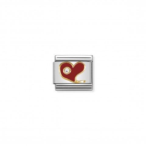 Link_Composable_Classic_Cuore_rosso_con_Pietra_Link_in_Oro_750_e_Cubic_Zirconia_simbolo_Amore