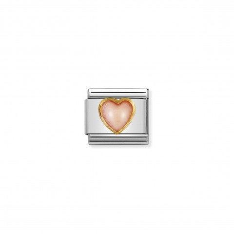 Link_Composable_Classic_cuore_con_corallo_rosa_Link_in_Oro_750_e_Pietra_dura_naturale