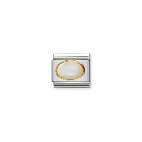 Composable_Classic_Link_in_Gold_with_white_Mother_of_Pearl_Link_in_18K_gold_with_natural_hard_stone