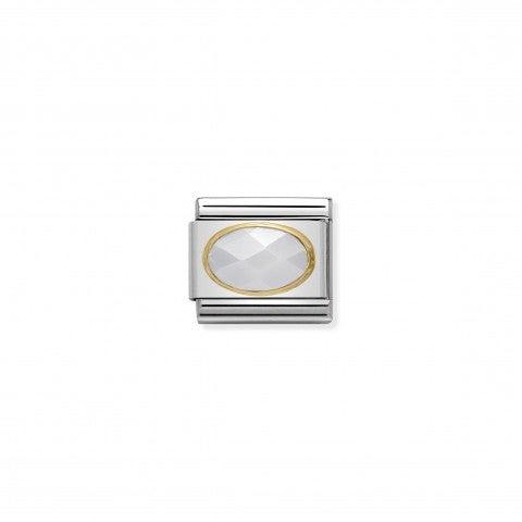 Link_Composable_Classic_in_Oro_e_Giada_bianca_Link_in_Oro_750_e_Pietra_dura_naturale