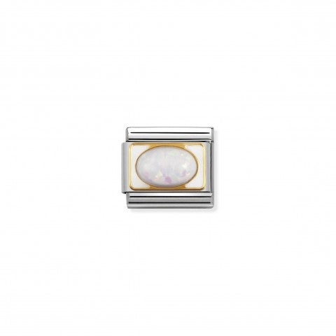 Composable_Classic_Link_October_gold_Birthstone_Stainless_steel_Link_with_white_opal_in_18K_gold_and_enamel