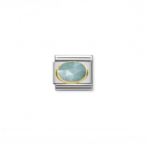 Link_Composable_Classic_Giada_celeste_in_Oro_Link_Classic_con_Pietra_dura_in_Acciaio_e_Oro_750