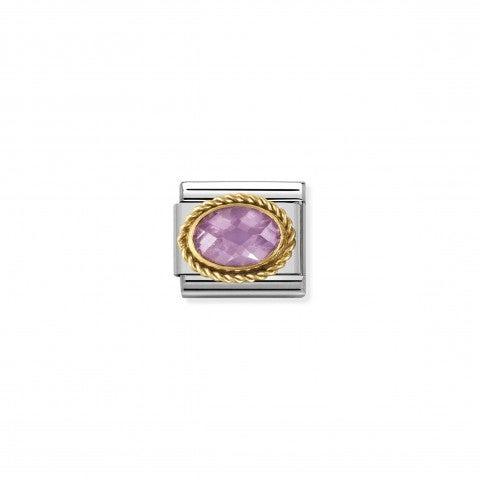 Link_Composable_Classic_Pietra_rosa_ovale_in_Oro_Link_in_Oro_750_con_Cubic_Zirconia_rosa_sfaccettato