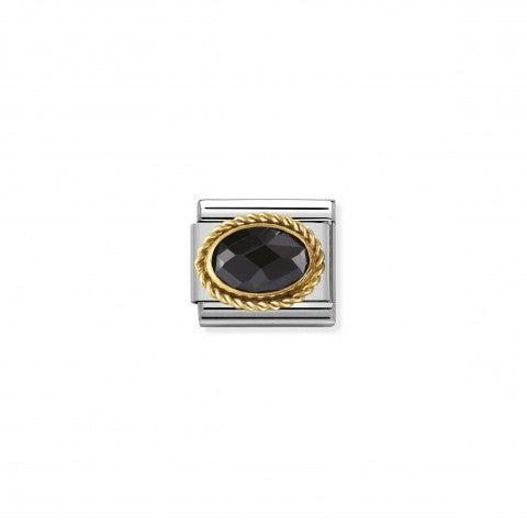 Link_Composable_Classic_Pietra_nera_ovale_in_Oro_Link_in_Oro_750_con_Cubic_Zirconia_nero_sfaccettato