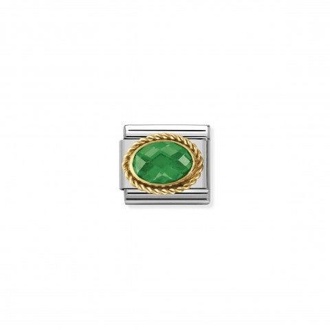Link_Composable_Classic_Pietra_verde_ovale_in_Oro_Link_in_Oro_750_con_Cubic_Zirconia_verde_sfaccettato