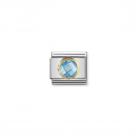 Link_Composable_Classic_Pietra_celeste_tonda_in_Oro_Link_con_Cubic_Zirconia_sfaccettato_tondo_celeste