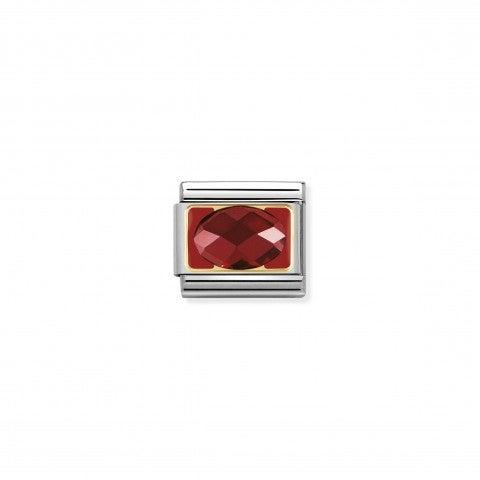 Link_Composable_Classic_in_Oro_e_Smalto_Pietra_Rossa_Link_in_Acciaio,_Oro_e_Smalto_con_Cubic_Zirconia