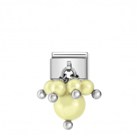 Link_Composable_classic_argento_perle_Giallo_Link_in_Argento_925_e_Perle_Swarovski_Giallo_Pastello