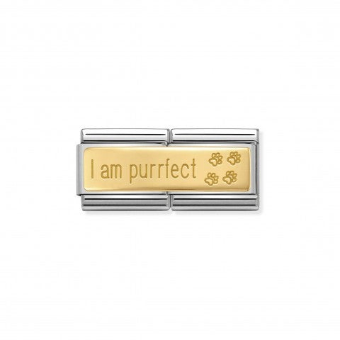 Composable_Classic_Double_Link_I_am_Purrfect_Link_in_18k_gold_and_incription