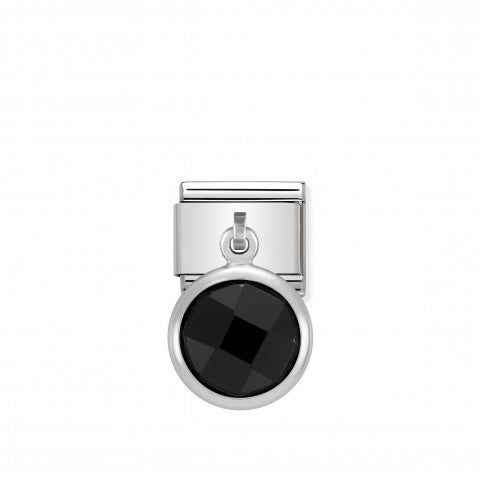Link_Composable_Classic_Pendente_in_Argento_Nero_Link_con_Pendente_in_Argento_e_Cubic_Zirconia_colorato