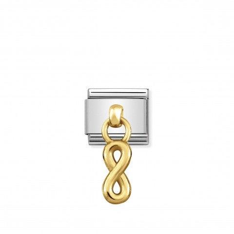 Link_Composable_Classic_Infinito_in_Oro_Link_con_simbolo_infinito_in_Acciaio_e_Oro_750