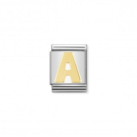 Link_Composable_Big_Lettera_A_in_Oro_Link_con_alfabeto_in_Acciaio_e_Oro_750