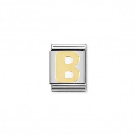 Link_Composable_Big_Lettera_B_in_Oro_Link_con_lettera_B_alfabeto_in_Acciaio_e_Oro_750