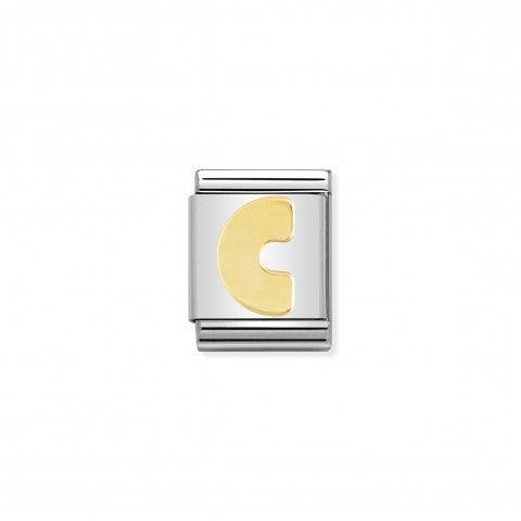 Link_Composable_Big_Lettera_C_in_Oro_Lettera_C_alfabeto_in_Acciaio_e_Oro_750