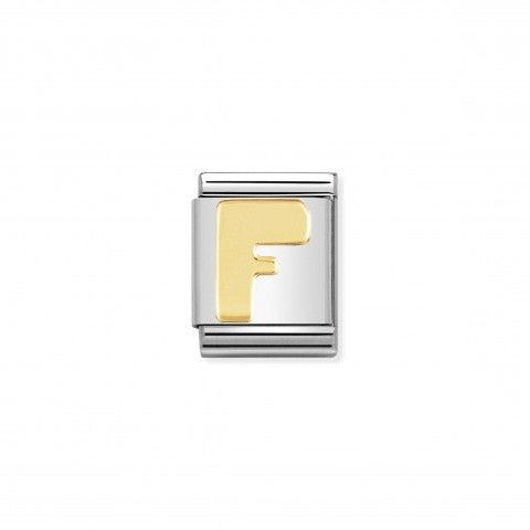 Link_Composable_Big_Lettera_F_in_Oro_Lettera_F_alfabeto_in_Acciaio_e_Oro_750