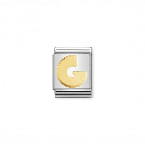 Link_Composable_Big_Lettera_G_in_Oro_Link_con_simbolo_lettera_in_Acciaio_e_Oro_750
