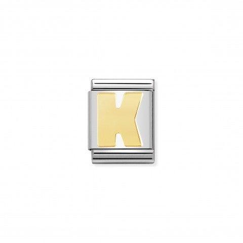 Link_Composable_Big_Lettera_K_in_Oro_Link_Big_con_simbolo_lettera_in_Acciaio_e_Oro_750