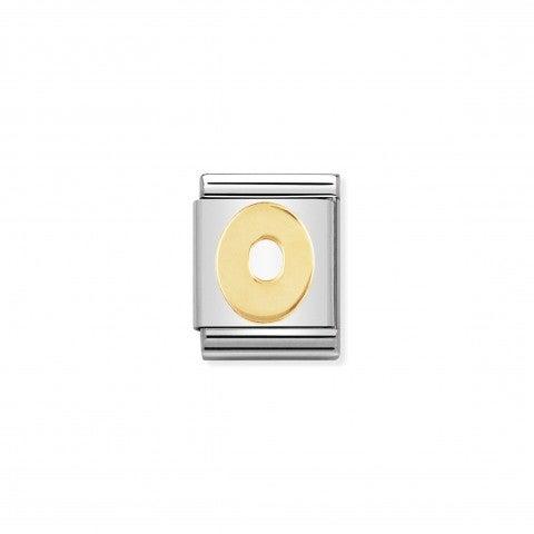 Link_Composable_Big_Lettera_O_in_Oro_Link_con_lettera_alfabetica_in_Acciaio_e_Oro_750
