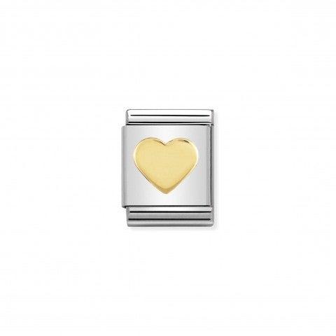 Link_Composable_Big_Cuore_in_Oro_750_Link_Big_con_simbolo_d'amore_in_Oro_750_e_Acciaio