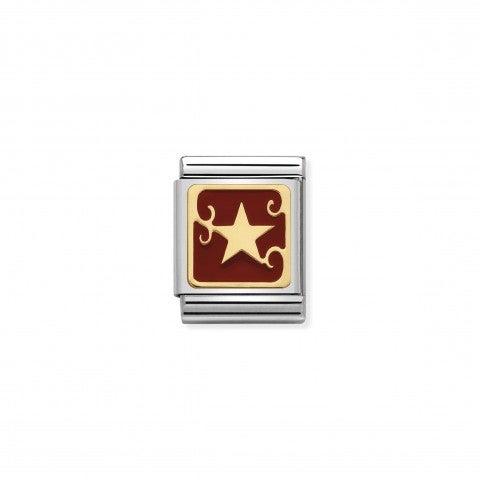 Link_Composable_Big_Stella_in_Smalto_Link_con_simbolo_di_Natale_in_Smalto_rosso