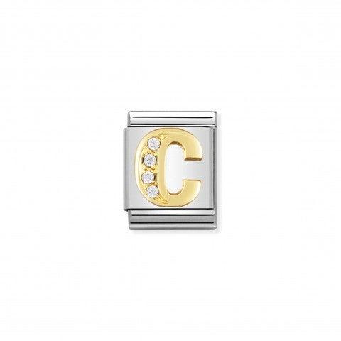 Link_Composable_Big_Lettera_C_in_Oro_con_Pietre_Link_in_Oro_750_e_Cubic_Zirconia_con_lettera