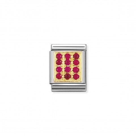Link_Composable_Big_con_Pietre_rosse_Link_in_Oro_750_con_Cubic_Zirconia_rossi
