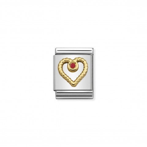 Composable_Big_Link_Heart_with_red_Stone_Decorative_Big_Link_in_18K_gold_and_red_stone