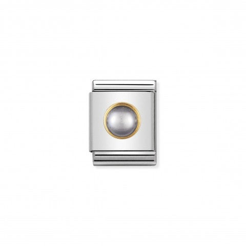 Composable_Big_Link_with_round_and_grey_pearl_Link_in_18K_gold_with_natural_hard_stone