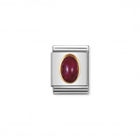 Composable_Big_Link_July_Birthstone_Ruby_Link_in_18K_gold_and_natural_semiprecious_stone