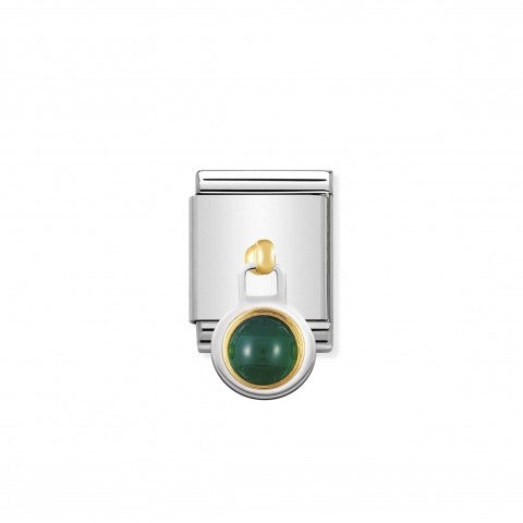 Composable_Big_Link_Green_Agate_Pendant_Link_in_gold_with_green_stone