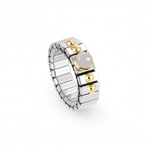 Stretch_Ring_withSemipreciousStones_Stainless_steel_ring_with_18K_gold_and_stones