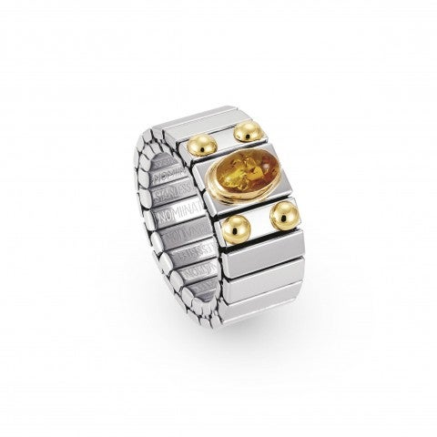 Stretch_Ring_with_Oval_HardStones_Stainless_steel_ring_with_18K_gold_details_and_oval_stones