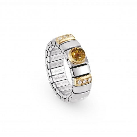Stretch_Ring_with_Hard_Stones_and_Cubic_Zirconia_Stainless_steel,_gold,_stone_and_Cubic_Zirconia_ring