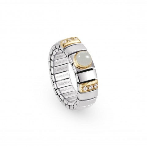 Stretch_Ring_with_Stones_and_Cubic_Zirconia_Steel_and_18K_gold,_stone_and_Cubic_Zirconia_ring