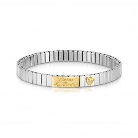 """Messages_Stretchable_Family_Bracelet_Bracelet_with_""""I_Love_My_Family""""_engraved"""