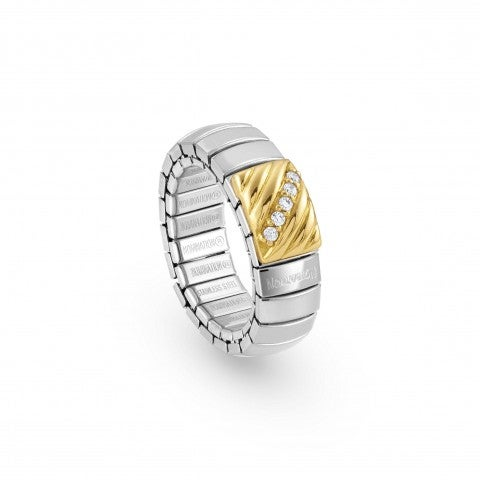 Stretch_Ring_in_Silver,_18K_Gold_and_Zirconia_Ring_with_white_Zirconia_and_18K_yellow_gold