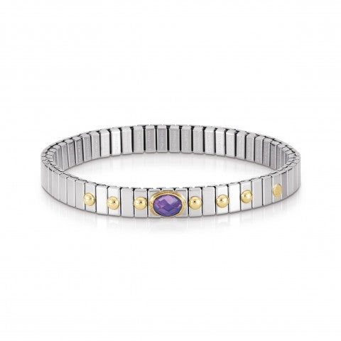 Stretch_Bracelet_with_details_in_Gold_and_Stones_Stainless_steel_bracelet_with_faceted_Cubic_Zirconia