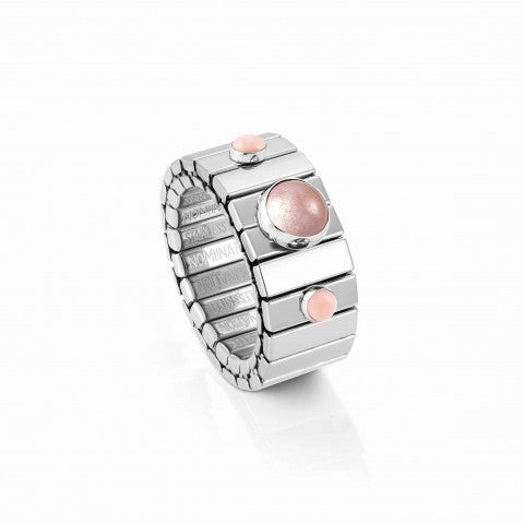 Extension_ring,_Steel_with_Pink_Coral_Limited_Ed,_Ring_with_Precious_stones