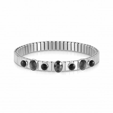 Extension_steel_bracelet,_7_black_stones_Limited_Ed._Bracelet,_Black_Agate_and_Cubic_Zirconia