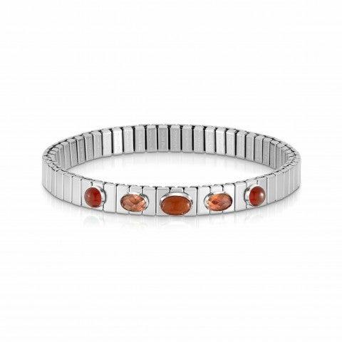 Extension_steel_bracelet,_5_red_stones_Ltd_Ed._Bracelet,_Red_Agate,_Avventurina_and_Zirconia