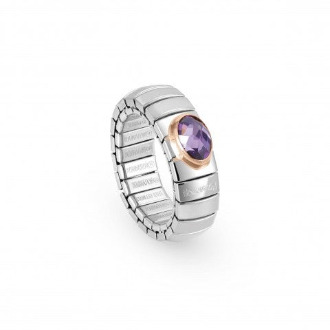 Stretch_Ring,_Rose_Gold,_faceted_Cubic_Zirconia_Ring_in_stainless_steel_and_coloured_Cubic_Zirconia