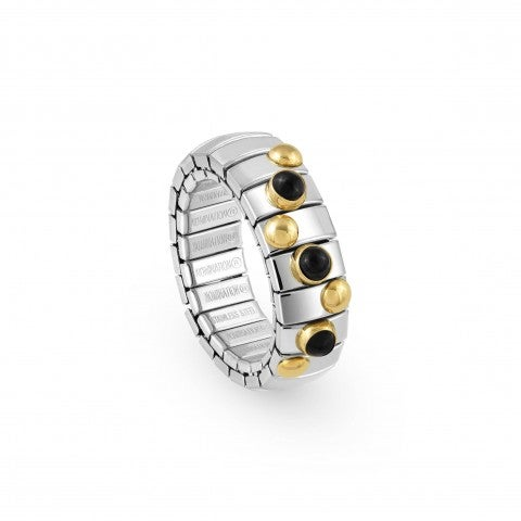 Stretch_Ring_with_Gold_and_small_Stones_Stainless_steel_ring_with_small_round_stones