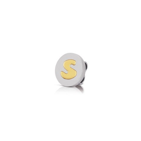 Charm_MyBonBons_with_Letter_S_in_Gold_Charm_MyBonBons_in_stainless_steel_with_Initial