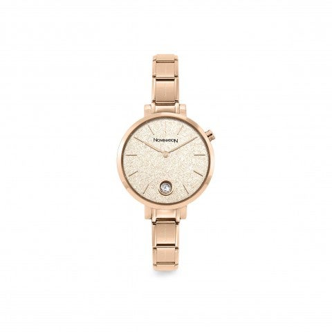 Composable_Rosegold_watch,_Glitter_and_CZ_Composable_watch_with_Rose_Glitter_and_Cubic_Zirconia