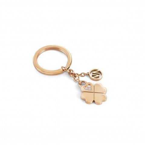 Lucky_4-Leaf_Clover_keyring_Keyring_with_Cubic_Zirconia