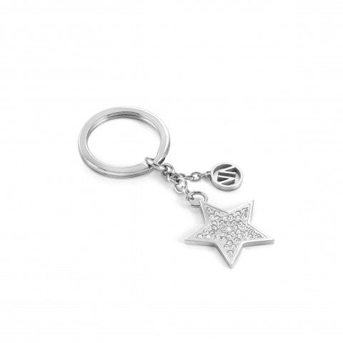 Star_with_stones_keyring_Stainless_steel_keyring_with_Cubic_Zirconia