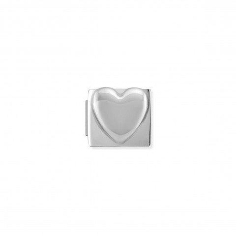Link_Composable_Classic_Royal_Cuore_bombato_Link_Royal_con_cuore_in_Acciaio_e_Argento_925