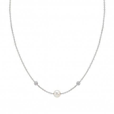 Short_necklace_with_Swarovski_Pearls_Sterling_silver_necklace_with_Cubic_Zirconia_and_pearls